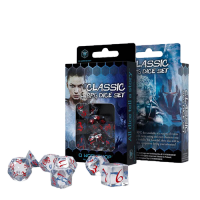 Classic RPG Dice Set translucent & blue-red