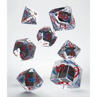 Classic RPG Dice Set translucent & blue-red