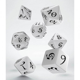 Classic RPG Dice Set white & black