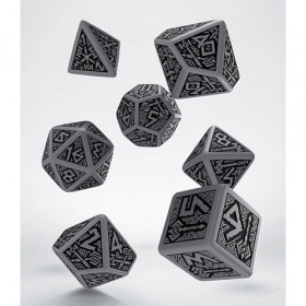 Dwarven Dice Set grey & black