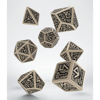Dwarven Dice Set beige & black