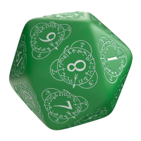 Q-Workshop Life Counter Die D20 green & white