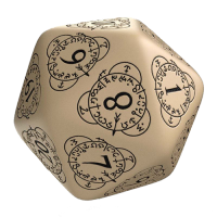 Q-Workshop Life Counter Die D20 beige & black