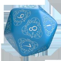 Q-Workshop Life Counter Die D20 blue & white