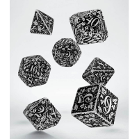 Forest 3D Dice Set white & black