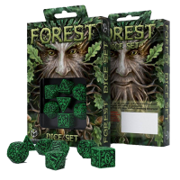 Forest 3D Dice Set green & black