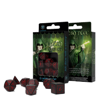 Elvish Dice Set black & red