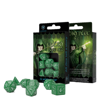 Elvish Dice Set green & white