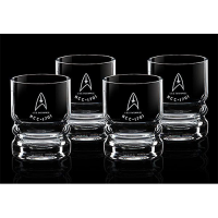 Star Trek Glassware 4-Pack USS Enterprise