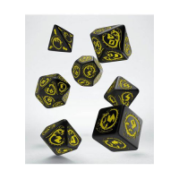 Dragons Dice Set black & yellow