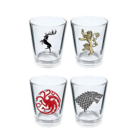 Game Of Thrones Shotglass 4-Pack Logos