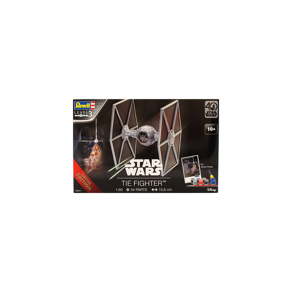 Star Wars 40th Anniversary Level 3 Model Kit TIE Fighter