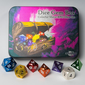 Metal Dice Set - Dice Gem Box (7 Dice)