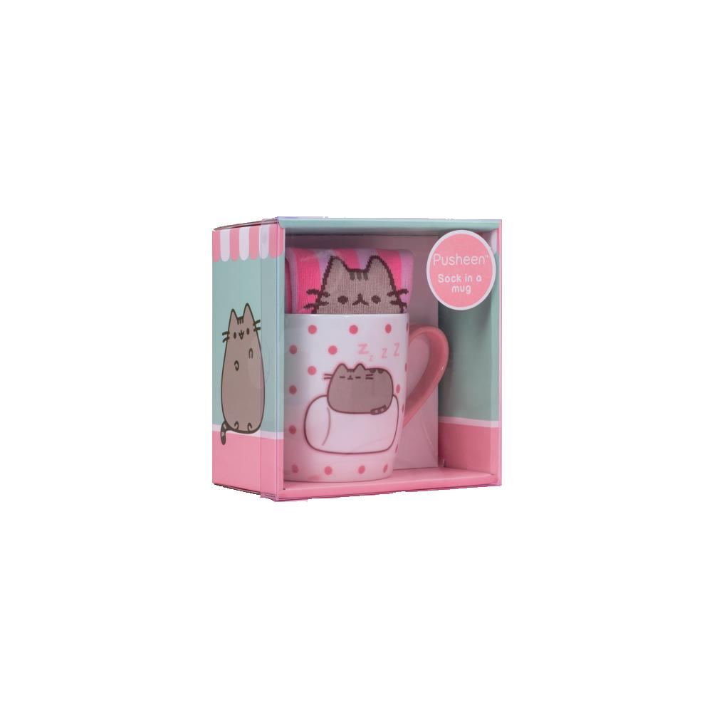 Pusheen Sock in a Mug Marshmallow