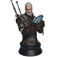 Witcher 3 Wild Hunt Bust Geralt Playing Gwent