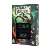 Arkham Horror Dice Set 5D6 black & green