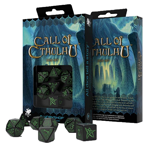 Call of Cthulhu Dice Set black & green