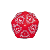 Q-Workshop Life Counter Die D20 red & white
