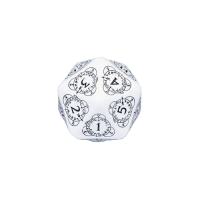 Q-Workshop Life Counter Die D20 white & black