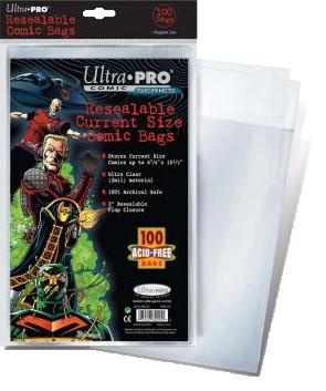 Ultra PRO: Comic Bags - Current Size (resigilabile)