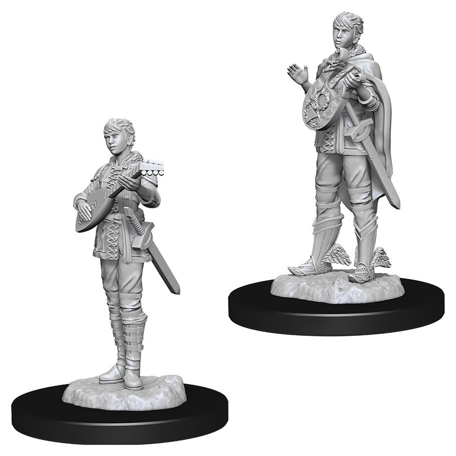 D&D Unpainted Miniatures: Female Half-Elf Bard