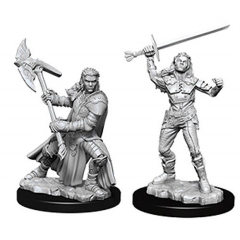 D&D Unpainted Miniatures: Female Half-Orc Fighter