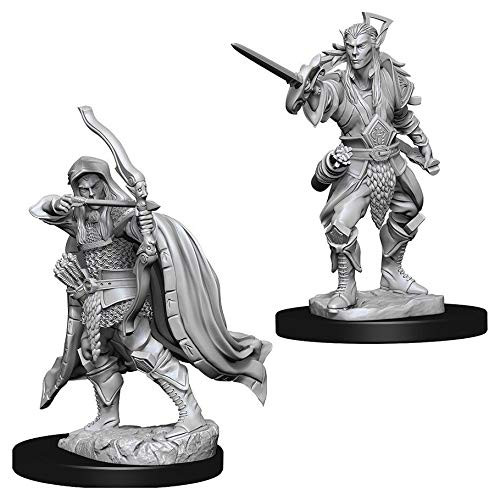 D&D Unpainted Miniatures: Male Elf Rogue