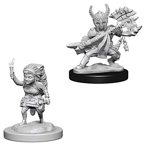 D&D Unpainted Miniatures: Female Halfling Fighter