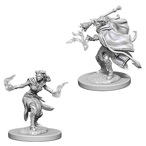 D&D Unpainted Miniatures: Female Tiefling Warlock