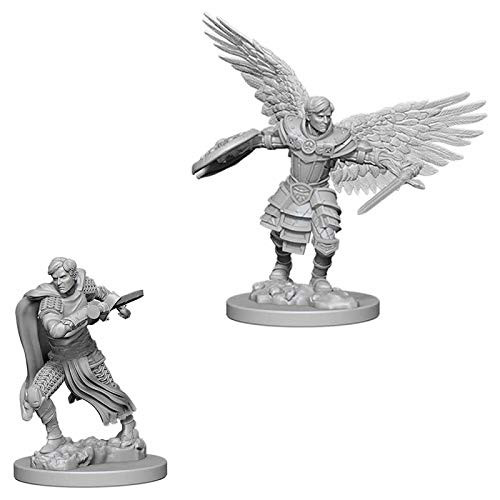D&D Unpainted Miniatures: Male Aasimar Fighter