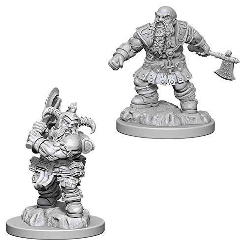 D&D Unpainted Miniatures: Male Dwarf Barbarian