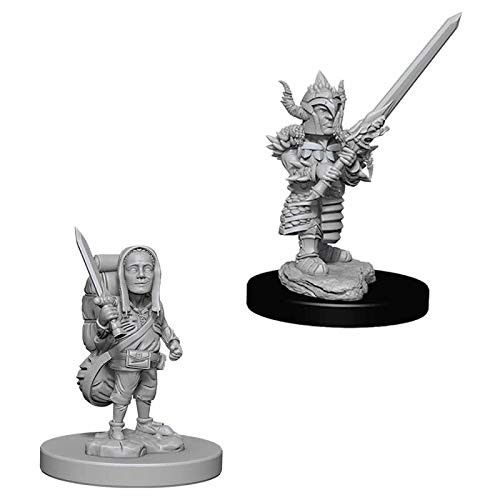 D&D Unpainted Miniatures: Male Halfling Fighter