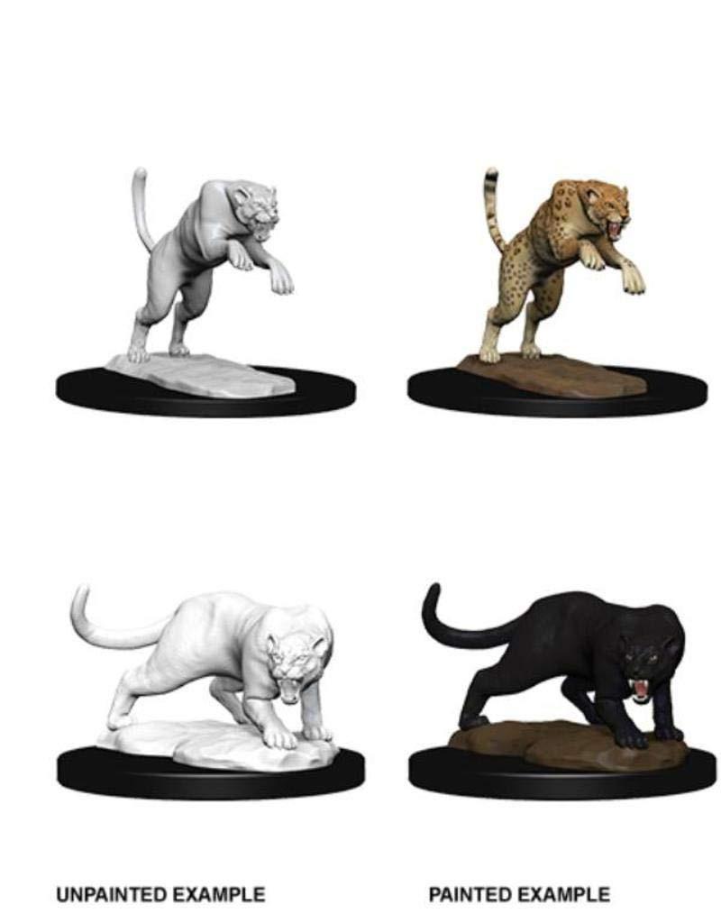 D&D Unpainted Miniatures: Panther & Leopard