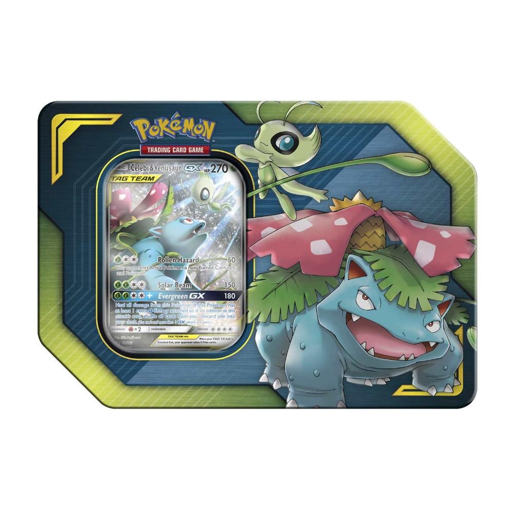 Pokemon Trading Card Game:  Celebi & Venusaur-GX TAG Team Tin