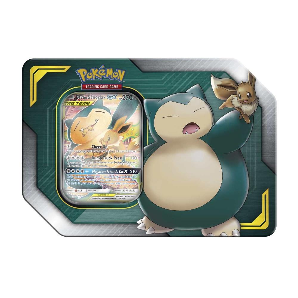 Pokemon Trading Card Game: Eevee & Snorlax-GX TAG Team Tin