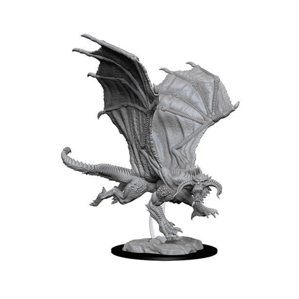Miniaturi Nepictate D&D Young Black Dragon