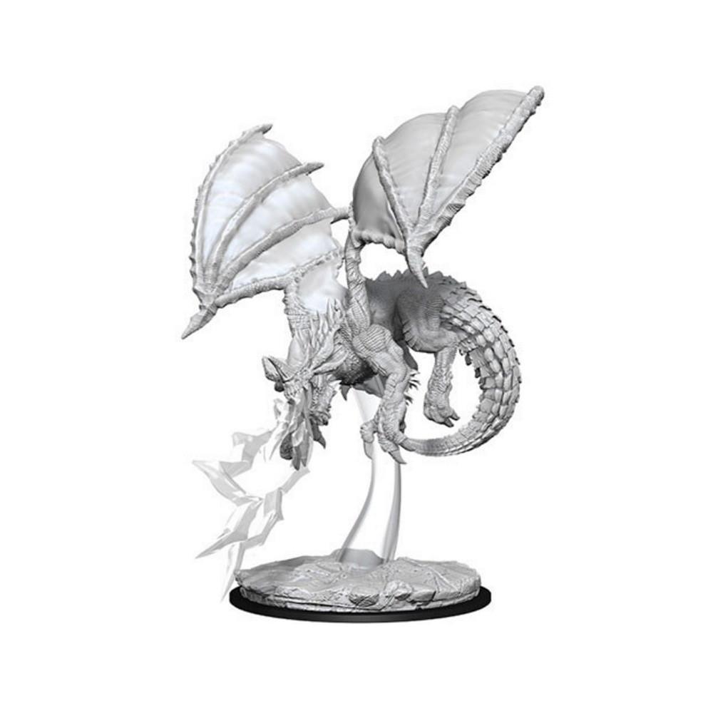 D&D Unpainted Miniatures: Young Blue Dragon