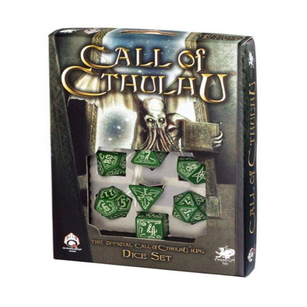Call of Cthulhu Dice Set green & glow-in-the-dark