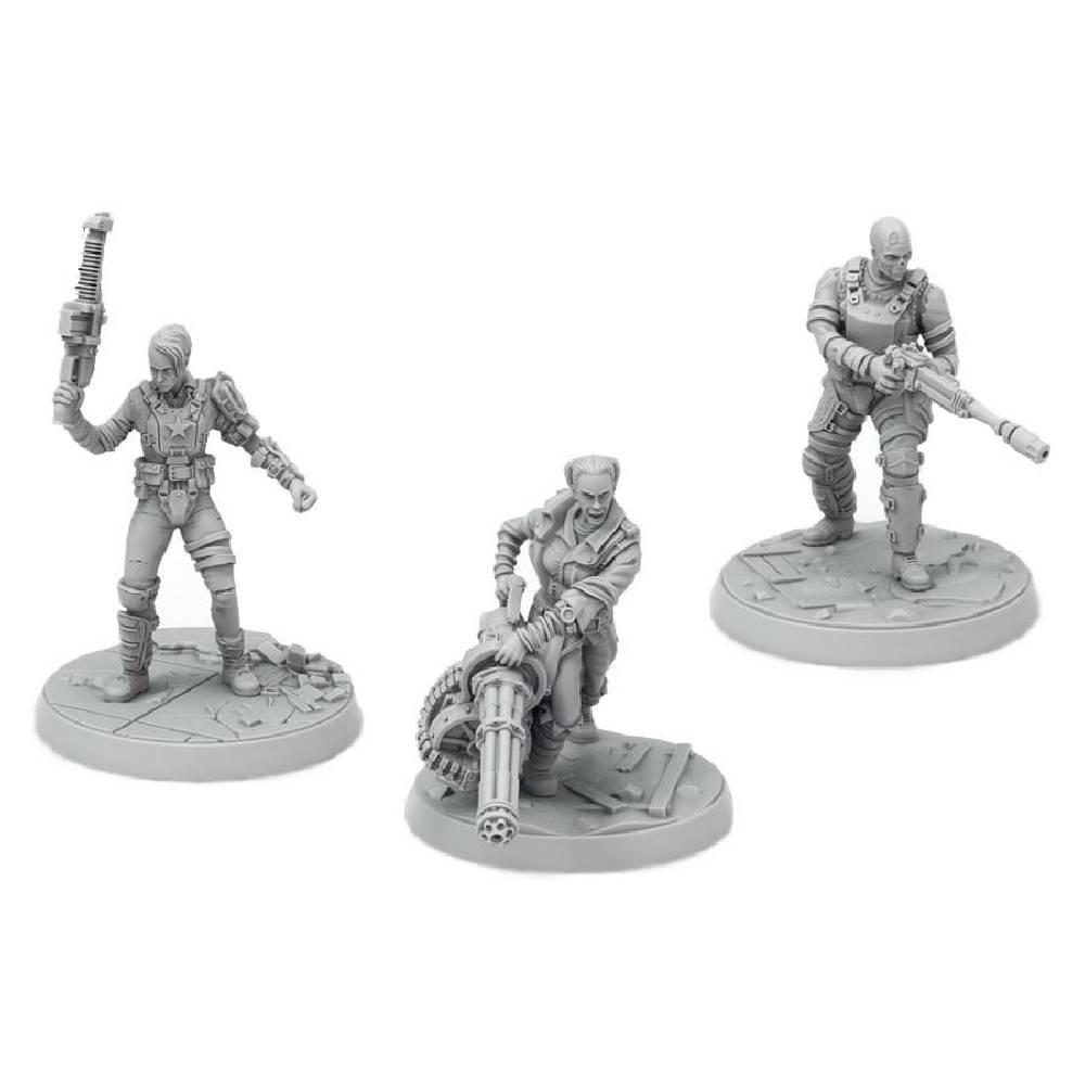 Expansiune Fallout: Wasteland Warfare - Ack Ack, Sinjin & Avery Miniaturi