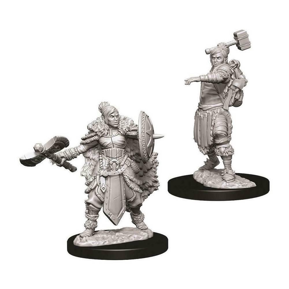 Miniaturi Nepictate D&D Female Half-Orc Barbarian
