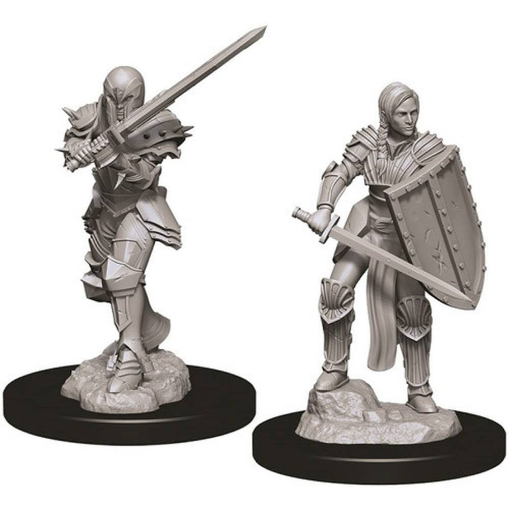 Miniaturi Nepictate D&D Female Human Fighter