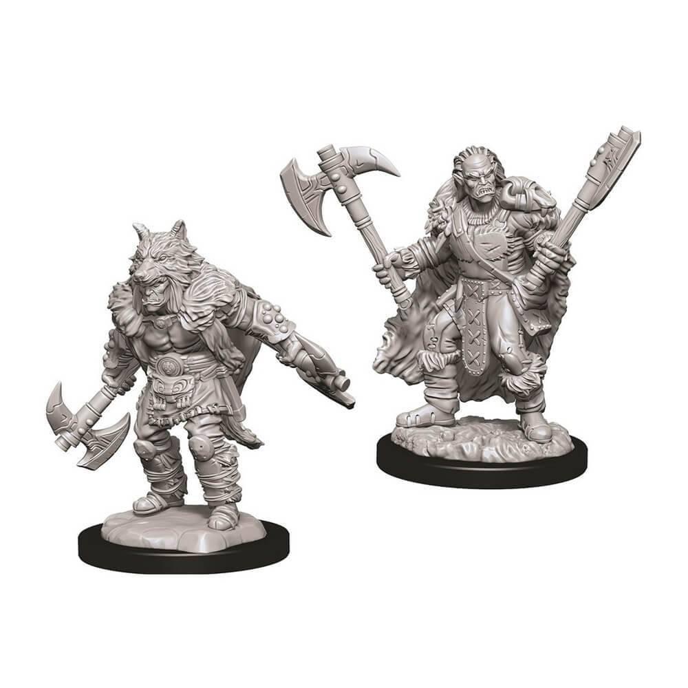 Miniaturi Nepictate D&D Male Half-Orc Barbarian
