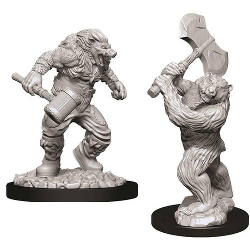 Miniaturi Nepictate D&D Wereboar & Werebear