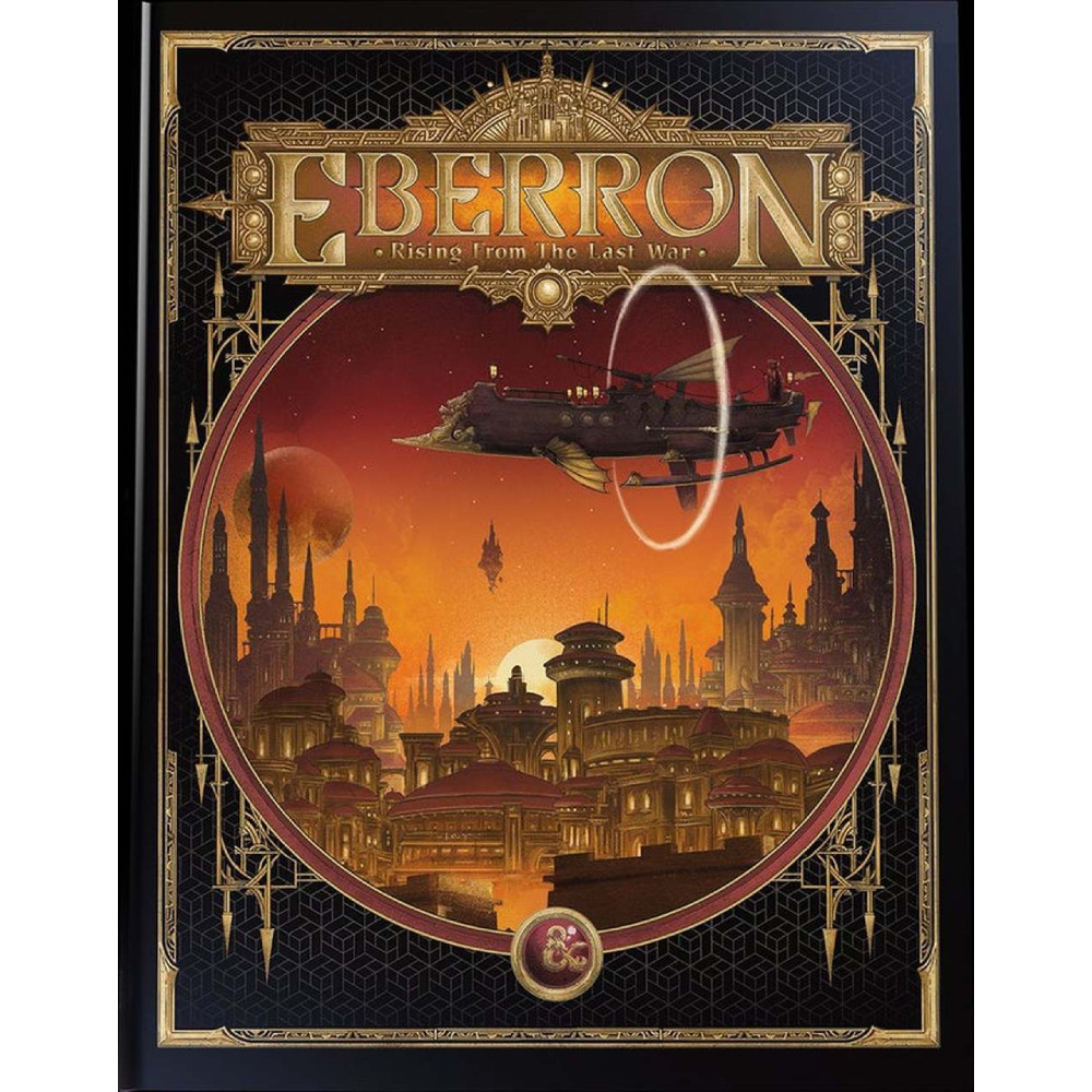 Carte D&D Eberron Rising From the Last War Adventure Book Alternate Cover