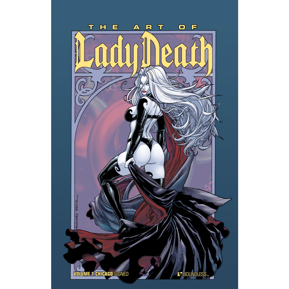 Art of Lady Death Signed HC Vol 01 Wizard World Chicago