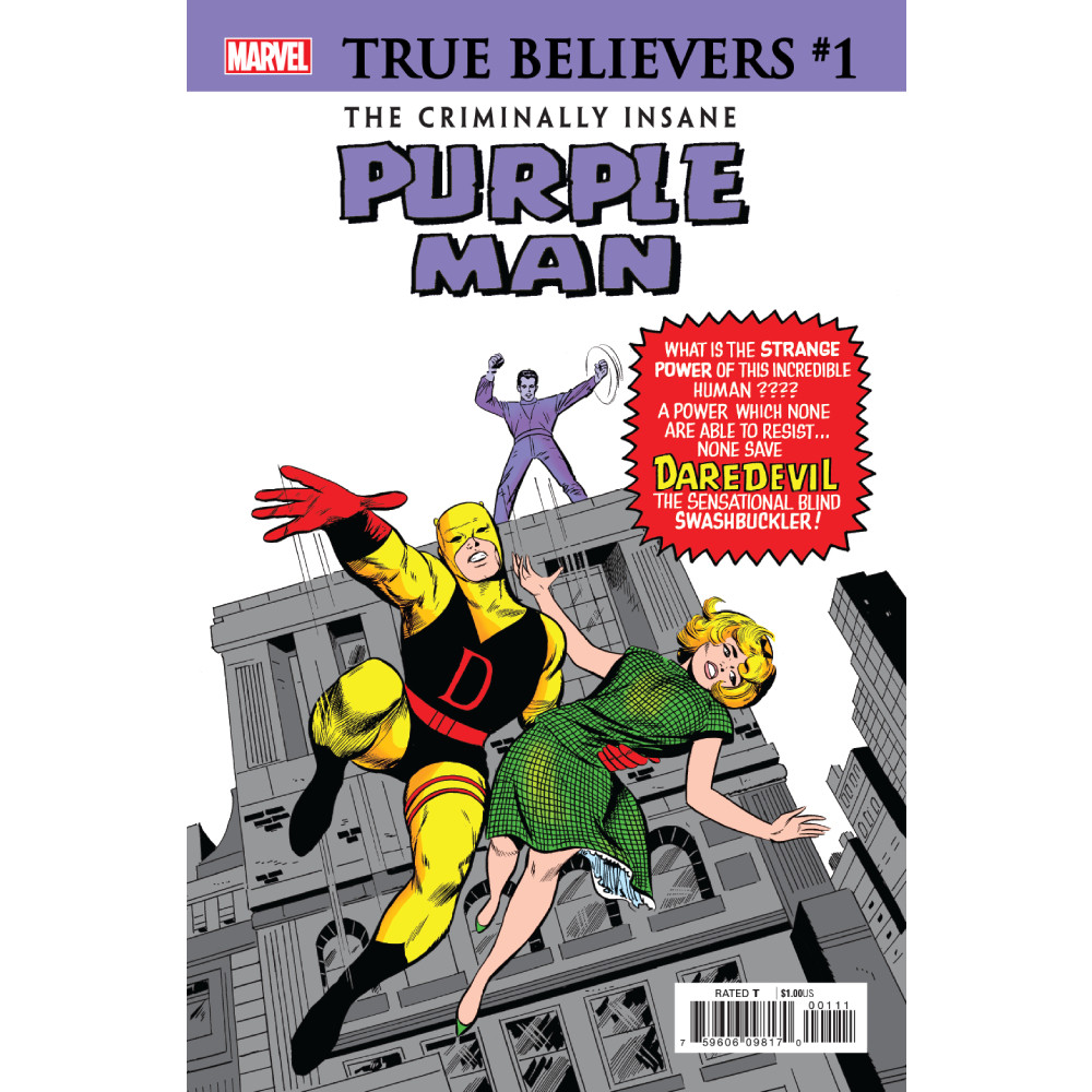 True Believers Criminally Insane Purple Man 01