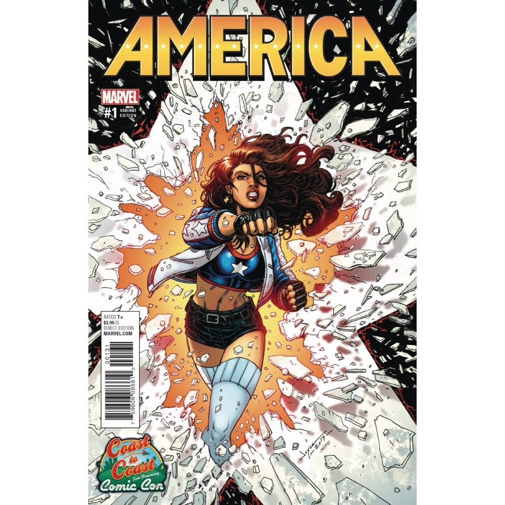 America 01 Cvr G Coast To Coast Comic Con Variant