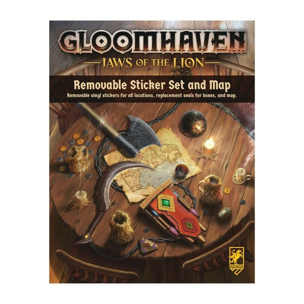 Set Removable Sticker & Map Gloomhaven - Jaws of the Lion